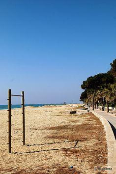 Strand bij Cambrils, paseo marítimo Vilafortuny.    #spanje #cambrils #vakantieplezier