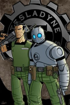 Atomic Robo and Jenkins  by firepunk626 Lines by-Zack Finfrock My colors