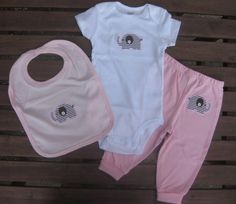 pictures of baby girl outfits with elephants | Elephant applique baby girl outfit
