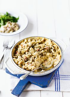 Chestnut mushroom and pancetta risotto