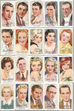 vintage cigarette cards, my new fave.
