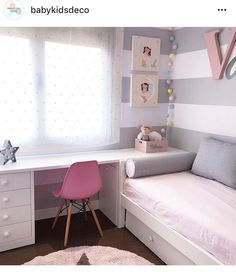 cute and girly bedroom decorating tips for girl 59 Small Room Bedroom, Kids Bedroom, Bedroom Ideas, Room Kids, Small Rooms, Kids Rooms, Bedroom Decorating Tips, Teenage Room, Girl Bedroom Designs