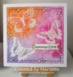 Vlinders betekent voor mij zomertijd! En ik hou van de zomer en vlinders :-) Butterflies means Summertime! And I love summer and butter...