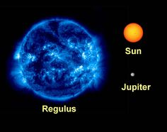 Regulus is the Lion's Heart 3/18/15 Regulus is a much larger star than our sun.