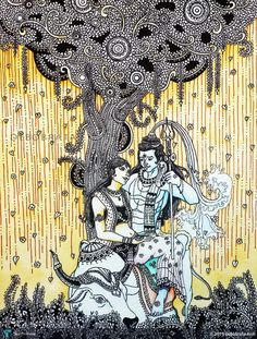 -shiva-parvati--painting-437582.jpg (825×1089)