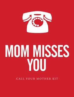 """""""Mom Misses You"""" - Call Your Mother Kit Kit with all equitment for college"""
