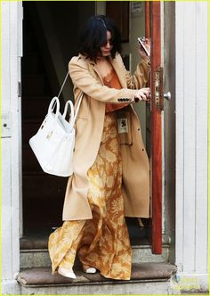 Vanessa Hudgens is beautiful in a brown ensemble while stepping out of her apartment on Thursday (April 30) in New York City.