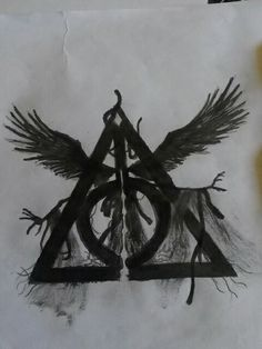 Deadly hallows.. tattoo drawing