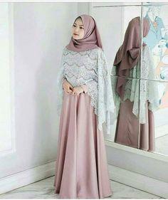 Ideas dress brokat modern hijab for 2019 Trendy Dresses, Modest Dresses, Nice Dresses, Casual Dresses, Long Dresses, Dress Brokat Modern, Kebaya Modern Dress, Kebaya Dress, Dress Muslim Modern