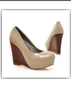 zapatos de cuna estilo de elegante color beige a las mujeres ultima moda 2012  US$ 14.11