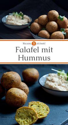 Falafel lassen sich ganz schnell selbst machen und schmecken einfach unglaublich gut   Die frittierten Bällchen aus pürierten Kichererbsen kommen ursprünglich aus dem arabischen Raum und werden häufig im Fladenbrot als Schnellgericht angeboten. Wir servieren Falafel mit Hummus, einem ebenfalls aus Kichererbsen hergestellten Dip.  #falafel #hummus #vegan #imbiss #snack #schnellesessen #recipe#recipes #rezept #rezepte #kochen #essen#lecker #gesund #gesundessen#wasesseichheute #yummy #a