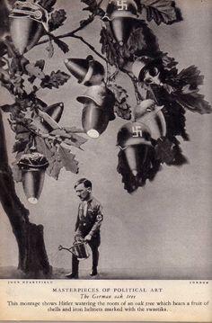 "John Heartfeild ""The German Oak Tree"". Anti-Nazi photo montages."