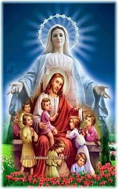 Jesus And Mary Pictures, Pictures Of Jesus Christ, Religious Pictures, Mary And Jesus, Jesus Mother, Blessed Mother Mary, Blessed Virgin Mary, Miséricorde Divine, Divine Mercy