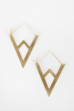urban outfitters: lila rice mountain hoop earring.