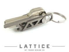 Lattice - Titanium Key Shackle by Carter James and Truss Design Co. — Kickstarter