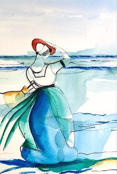 Art Journals, Disney Characters, Fictional Characters, Disney Princess, Abstract, Watercolors, Kunst, Art Diary, Fantasy Characters