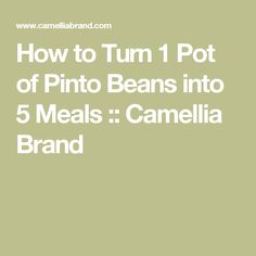 How to Turn 1 Pot of Pinto Beans into 5 Meals :: Camellia Brand