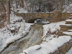 Walking along the trail to Upper Falls in winter, photo courtesy of Jim Vallee.