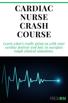 Cardiac Nurse Crash Course Receive a patient from the cath lab with ease, confidently address the p Nursing School Tips, Nursing Tips, Nursing Schools, Nursing Quotes, Travel Nursing, Funny Nursing, Nursing Memes, Cardiac Nursing, Pharmacology Nursing