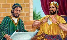 Josías perturbado al escuchar la lectura de la ley de Dios