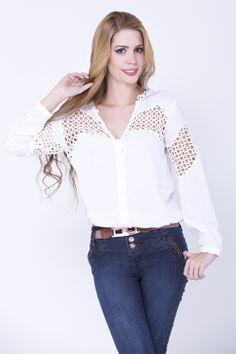 www.bonabella.com.co Ruffle Blouse, Lace, Women, Fashion, End Of Year, Blouses, Clothing, Moda, Women's