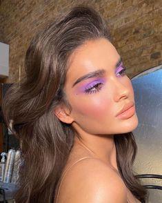 Cute Makeup, Pretty Makeup, Diy Makeup, Simple Makeup, Makeup Hacks, Purple Makeup Looks, Natural Makeup, Makeup Stuff, Purple Fairy Makeup