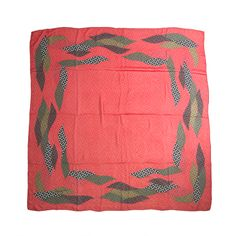 Christian Dior Red/Green/Black Silk Dotted Scarf   From a collection of rare vintage scarves at http://www.1stdibs.com/fashion/accessories/scarves/