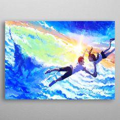 weathering with you Anime & Manga Poster Print Poster Making, Making Out, Films, Anime, Weather, Paintings, Poster Prints, Manga, Metal
