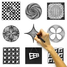 Doodle Patterns 581034789414088421 - Source by Art Drawings Sketches Simple, Pencil Art Drawings, Easy Drawings, Horse Drawings, Animal Drawings, Doodle Art Designs, Doodle Patterns, Art Patterns, Easy Zentangle Patterns