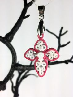 Paper Quilled Easter Cross Pendant Small by SweetheartsandCrafts