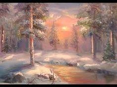 Картинки по запросу зимний пейзаж маслом