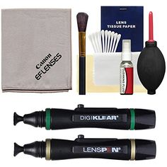 Canon Optical Lens and Digital SLR Camera Cleaning Kit with Brush, Microfiber Cloth, Fluid & Tissue + Blower + Lenspens for EOS 6D, 70D, 7D, 5DS, 5D Mark II III, Rebel T5, T5i, T6i, T6s, SL1 Canon http://www.amazon.com/dp/B00B1086OA/ref=cm_sw_r_pi_dp_6Hlzwb148XXJR