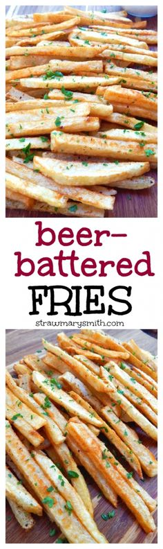 Beer-Battered Fries are crispy on the outside, fluffy on the inside, and smothered in beer and spices. Plus - 3 tips for first-timers!