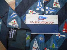 LOUIS VUITTON CUP Silk   Tie  Designer tie neck tie by csclothes
