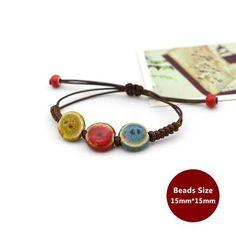Weaving Bohemia Ceramic Bracelet Charm Jewelry Charm Jewelry Outfit Accessories From Touchy Style Charm Bracelets For Girls, Bracelets With Meaning, Cheap Bracelets, Bracelets For Men, Handmade Bracelets, Fashion Bracelets, Rope Bracelets, Gypsy Jewelry, Charm Jewelry