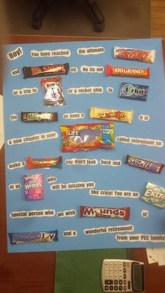 Retirement Candy Bar Card | Pinterest cakes & things made ...