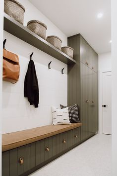 Before and After: A Canadian Home Gets a Polished Scandinavian Makeover ideas scandinavian Tour a Winnipeg Before and After inspired by Scandinavian Design Mudroom Laundry Room, Laundry Room Design, Mudroom Cabinets, Bathroom Cabinets, Entryway Decor, Diy Bedroom Decor, Home Decor, Entryway Bench, Entryway Ideas