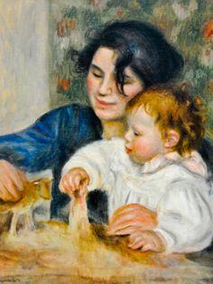 Pierre Auguste Renoir - Gabrielle with Jean 1896 at Musée de l'Orangerie Paris France   by mbell1975