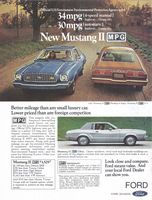 Ford Mustang II MPG Ghia 1975 Ad Picture