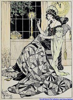 Violet Moore Higgins, Quilting shared by Ʈђἰʂ Iᵴɲ'ʈ ᙢᶓ Enchanted Princess, Children's Book Illustration, Portraits, Art Techniques, Art Pictures, Pretty Pictures, Vintage Images, Line Art, Illustrators