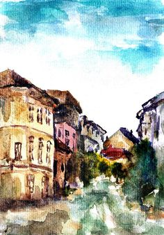 Bucharest Painting - Bucharest by Cuiava Laurentiu Bucharest, Hanging Wire, Fine Art America, Framed Prints, Wall Art, City, Painting, Painting Art, Paintings
