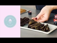 I learnt this technique during my studies in pastry school and love applying it to my cakes. I really feel that these delicate chocolate ruffles elevate how . Chocolate Sticks, Chocolate Art, How To Make Chocolate, Brushstroke Cake, Pastry School, Chef Paul, Cake Youtube, Cake Tutorial, The Duff