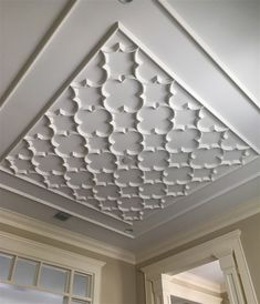 One of our 4 major ceiling design groups, this modern ceiling design collection flows from modern to classic. View our robust ceiling gallery for ceiling ideas Drawing Room Ceiling Design, Plaster Ceiling Design, Interior Ceiling Design, Molding Ceiling, House Ceiling Design, Ceiling Design Living Room, Bedroom False Ceiling Design, Ceiling Decor, Pop Design For Roof