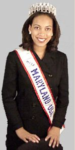 """Howard University senior Christie Davis won out over 31 contestants to be crowned Miss Maryland USA 2000. The broadcast journalism major and host of the WHUT student production """"Campus News"""" is the second African American to win the pageant; the first was her sister, Wendy Davis, a current second-year Howard medical student who was crowned Miss Maryland USA 1994."""