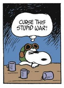 """I love Snoopy as the World War I flying ace. (So atmospheric in """"It's the Great Pumpkin, Charlie Brown"""")"""
