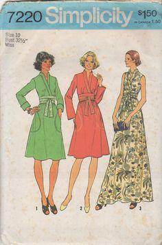 Vintage Simplicity 7220 Dress Sewing Pattern