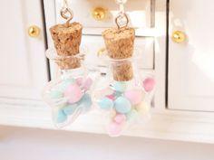 Bubblegum star bottle earrings by Manadodje on Etsy, €18.00