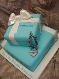 Tiffany Co Birthday Cake Ideas Gift box cakes Cake girls and