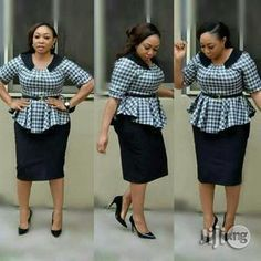 Quality Turkey gown, available in sizes 38 to 50 In colour black and white Latest African Fashion Dresses, African Dresses For Women, African Print Fashion, African Attire, Women's Fashion Dresses, Office Dresses For Women, Classy Work Outfits, African Traditional Dresses, Colour Black