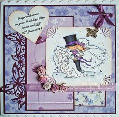 Marianne's Craftroom: Another Wedding Card